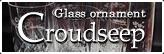グラスオーナメント クラウドシープ